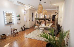 interior photo of omega beauty lobby area