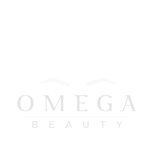 omega beauty logo white